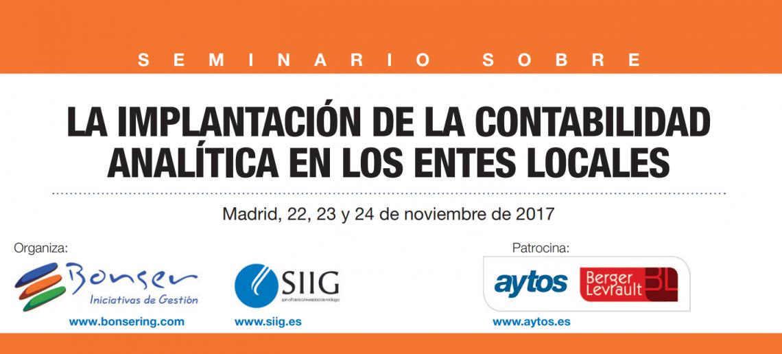 Seminario sobre la implantación de la contabilidad analítica en los entes locales