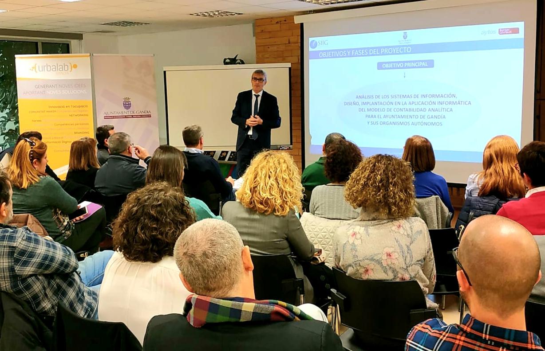 Reunión de lanzamiento del proyecto de implantación del Modelo de Contabilidad Analítica en el Ayuntamiento de Gandía y sus Organismos Autónomos